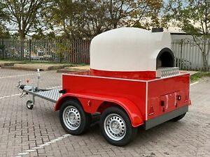 MOBILE WOOD FIRED PIZZA OVEN * PIZZA TRAILER * CATERING TRAILER * FORNO FORNI