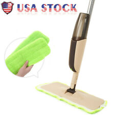 NEW Spray Mop with Two Reusable Super Soft Microfiber Pads for Kitchen House USA