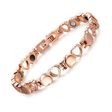 Rose Gold Color Love Heart Womens Bracelet stainless steel Magnetic Bracelet
