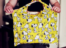 New Cute Snoopy Peanuts Cloth Foldable Shopping Bag SHOPPER TOTE BAG Handbag