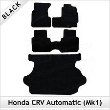 Honda CRV automático Mk1 1995-2002 a medida Alfombrillas de arranque ajustada Alfombra Suelo & Negro