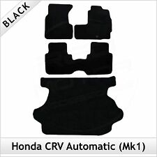 Honda CRV Automatic Mk1 1995-2002 Tailored Fitted Carpet Floor & Boot Mats BLACK
