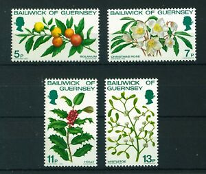 Guernsey 1978 Christmas full set of stamps. MNH. Sg 173-176