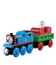 NEW Fisher Price Thomas the Train Wooden Railway Santas Little Engine