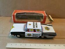 TAIYO POLICE CAR TIN LITHO FRICTION FORD HIGHWAY PATROL 5657 VINTAGE 1960s JAPAN