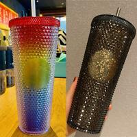 2021 China Starbucks 24oz Tumbler Straw Cup Christmas Shinning Diamond Studded