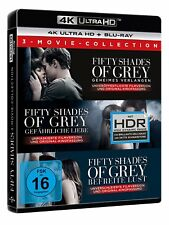 FIFTY SHADES OF GREY 1-3 MOVIE COLLECTION BEFREITE LUST 4K ULTRA HD BLU-RAY