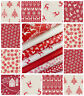 SCANDI 2018-19 MAKOWER - QUILTING CRAFT FABRIC CHRISTMAS TREES HEARTS REINDEERS
