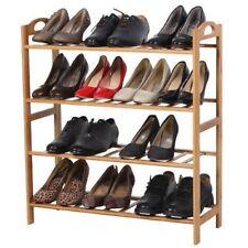 4 level Natural Bamboo Wooden Shoe Rack Storage Organizer Shoe Shelves Shoe Rack