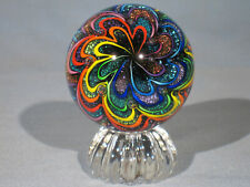 Marbles: Hand Made Art Glass Alloway Dichroic New Design #3147     2.73inch