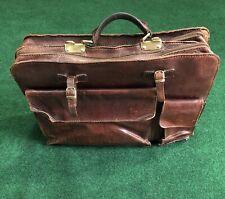 Vintage 1970's leather business briefcase messenger bag by THE BRIDGE
