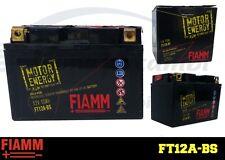 FT12A-BS BATTERIA MOTO FIAMM MOTOR ENERGY YUASA YT12A-BS 10Ah 175A  + LIQUIDO