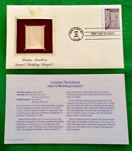 Louise Nevelson Dawn's Wedding Chapel 1 First Day Issue 22k Gold Foil FDC