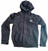 HELLY HANSEN Black Nylon RAIN JACKET Hiking Sailing Windbreaker Coat Sz Womens S
