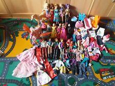 barbie konvolut xxl Paket Barbies Kens Pferde Hund Katze Möbel Kleidung Babys