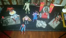 MARVEL SELECT LOT OF 10 LOOSE ACTION FIGURES RED SKUll,DOC DOOM,CAPT AMERICA!!!!