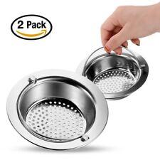 2pcs Küche Haarsieb Badwanne Dusche Abflusssieb Spüle Waschbecken Spüle Stopper