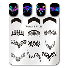 Nail Art Stamping Plate French Tip Image Template Manicure Born Pretty 6*6cm