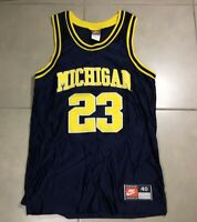 1996 NIKE Authentic Michigan Wolverines Sz 40 MAURICE TAYLOR Basketball Jersey