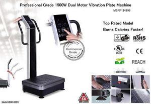 New Dual Motor 1500w Vibration Vibe Plate Exercise Cardio Machine Massager