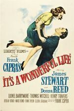 CLASSIC it's a WONDERFUL LIFE movie poster JIMMY STEWART DONNA REED 24X36 - UY1
