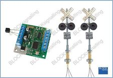 BLOCKsignalling Railroad Level Crossing Module with Led Lights Wig Wag US
