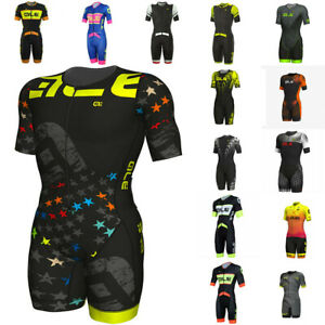 15 Colors Summer Men Cycling Jumpsuit Short Sleeve Mens Cycling Skinsuit
