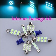 Ice Blue Light Bulb SMD Interior LED Package Kit For Nissan Frontier 2005-2015