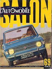 L'AutOmobile October 1969 Fiat 138, Salon French Auto Magazine 051617nonDBE