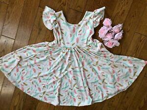 NWT Dot Dot Smile Twirly Summer dress Girls Empire Pastel Faders