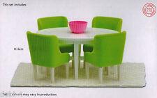 Lundby 60.2090 Smaland Esszimmer Möbel Tisch Stühle für das Puppenhaus