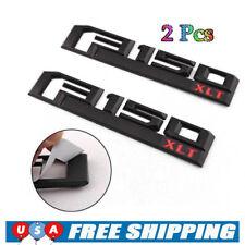 Molding Red F150 XLT Raptor Emblem Badge Accessories For Ford F-150 Black 2Pcs