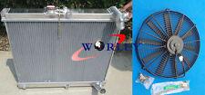 Aluminum Radiator + FAN for mazda RX7 FC3S RX-7 FC-3S S4 MT 1986 1987 1988 86 87