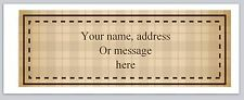 30 Personalized Vintage Return Address Labels Buy 3 get 1 free (bx 63)