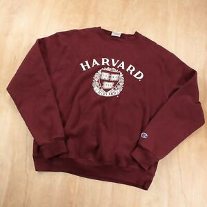 CHAMPION sweatshirt MEDIUM Harvard University embroidered vtg 00s