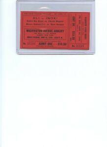 Muhammad Ali Inoki Andre the Giant 1976 Boxing Wrestling ticket Telecast wwf