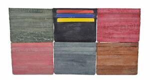 Waterproof Genuine Eel Skin Soft Leather Slim Thin Credit Card Holder Wallet