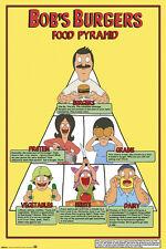 BOB'S BURGERS FOOD PYRAMID 24X36 POSTER TV CARTOON LINDA TINA GENE LOUISE NEW!!!