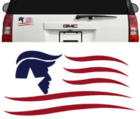President Donald Trump Flag Decal Sticker Car Window Laptop Bumper Pence