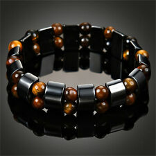 Men's Magnetic Bracelet Hematite Stone Therapy Health Care Jewelry Weight Loss