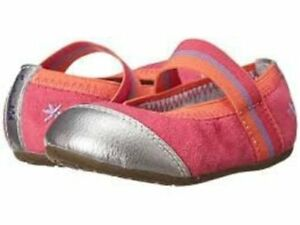 NIB Splendid for STRIDE RITE Shoes Flats Baby Jettah Pink Coral Suede 4M toddler
