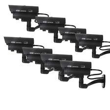 8X Dummy Security Camera Fake Flashing Infrared Outdoor Bullet CCTV Surveillance