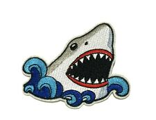 Great White Shark Animal Sealife Embroidered Patch Iron/Sew-On Applique Souvenir
