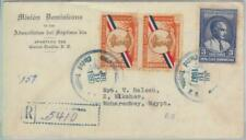 81607 - DOMINICANA - POSTAL HISTORY -  Registered COVER  to  EGYPT  1937