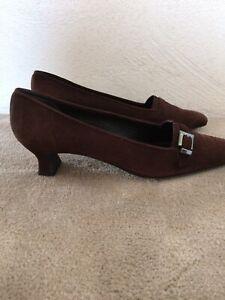 STUART WEITZMAN Shoes Low Heels Loafers Suede Brown Women's US 9.5