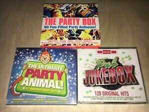 CD Compilation Job Lot: Party Box / Party Animal / Pub Jukebox [12 CDs]