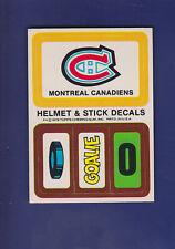 Montreal Canadiens Helmet Decals 1979-80 TOPPS Hockey Puck/Goalie/0 (EXMT+)