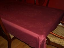 LACE TABLECLOTH BURGUNDY RECTANGLE FORMAL DINING  52 X 70 BTCF432