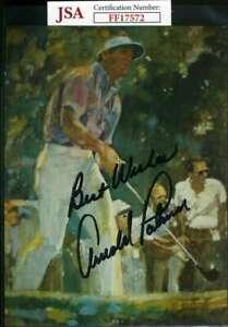 Arnold Palmer Jsa Autograph  5x7 Photo Hand Signed