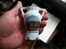 WOODWARD OKLAHOMA CONVENTION HALL EARLY SOUVENIR CHINA VASE MADE FOR CR SKAGGS